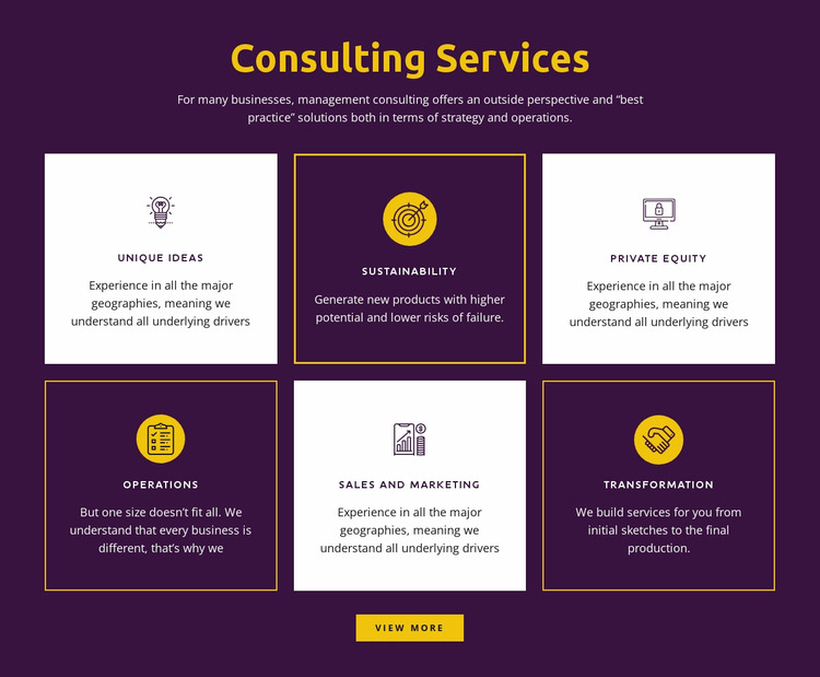 Global consulting services WordPress Website Builder