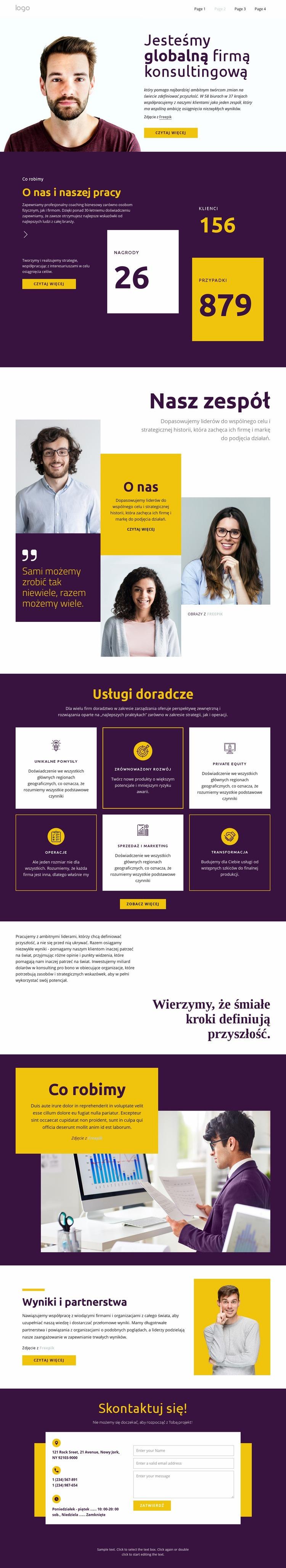 Konsultanci dla dużego biznesu Szablon witryny sieci Web