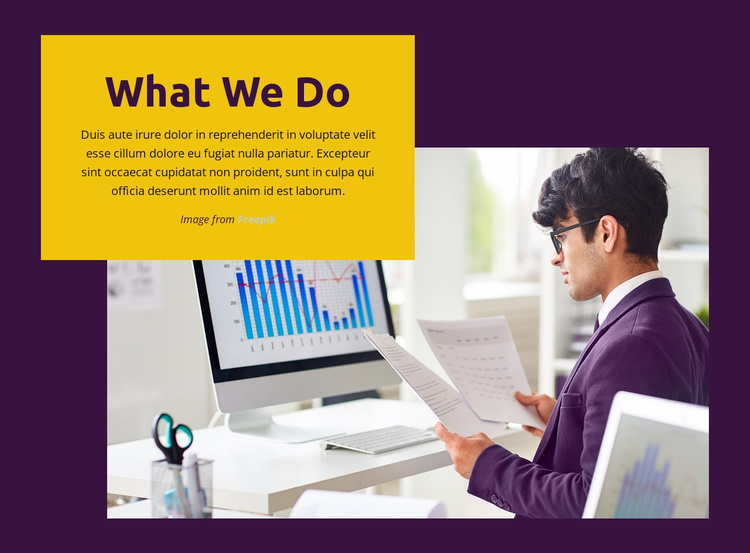 What We Do Website Template