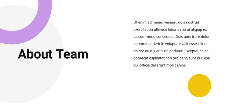 Team text HTML Template
