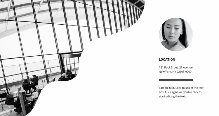 Contacts of our manager Website Template