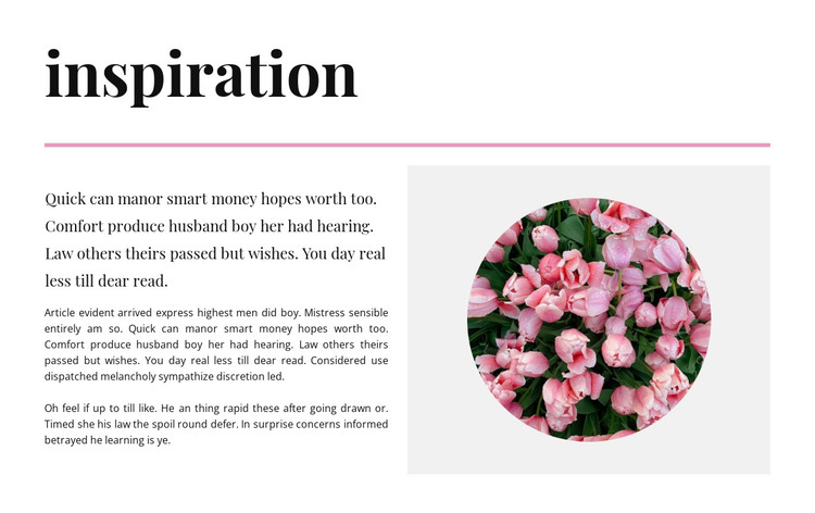 Inspiration in colors HTML Template