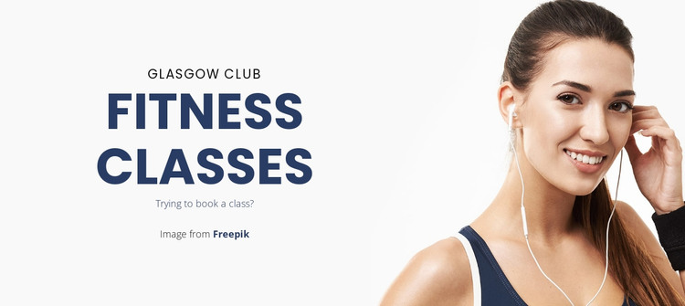 Group Fitness Classes HTML Template