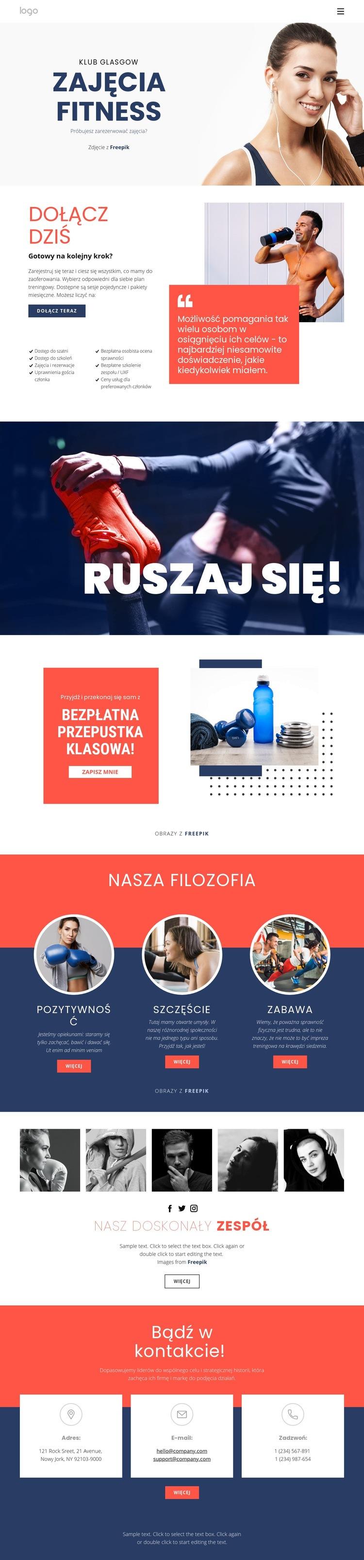 Studio fitness Szablon witryny sieci Web