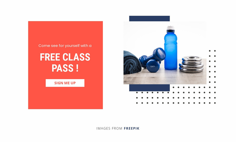 Small Group Training Website Template