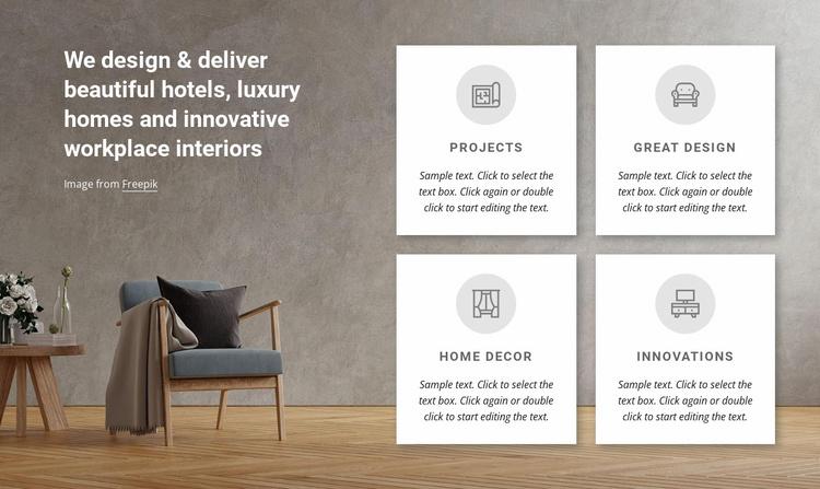 We design luxury homes Website Template