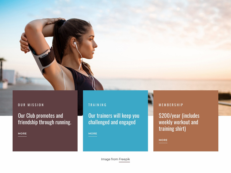 Running in the morning Website Template