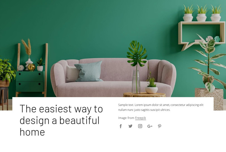Your interior decorating style HTML Template