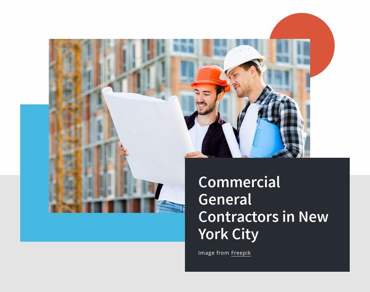 Commercial general contractors Website Template