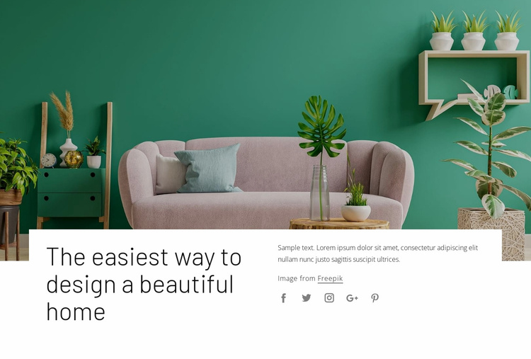Your interior decorating style Website Template