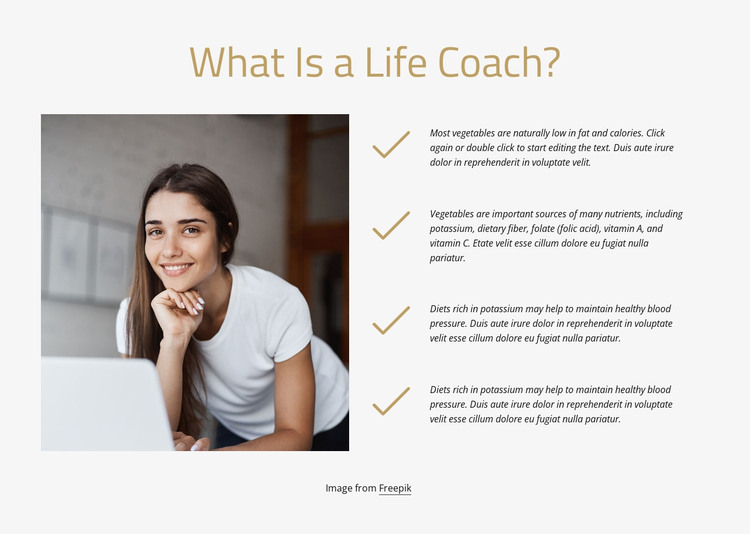 What is a life coach HTML Template