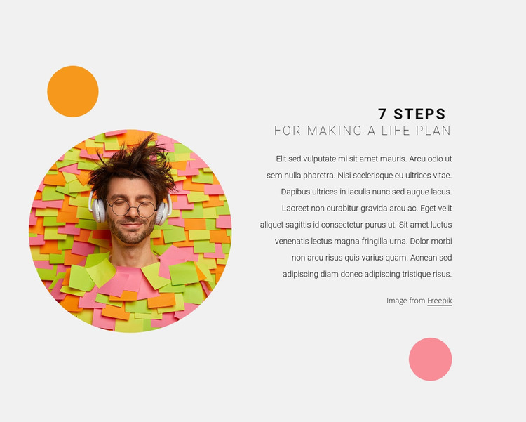 Plan your steps HTML Template