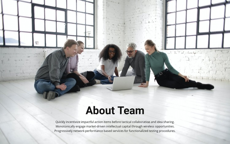 About coach team CSS Template