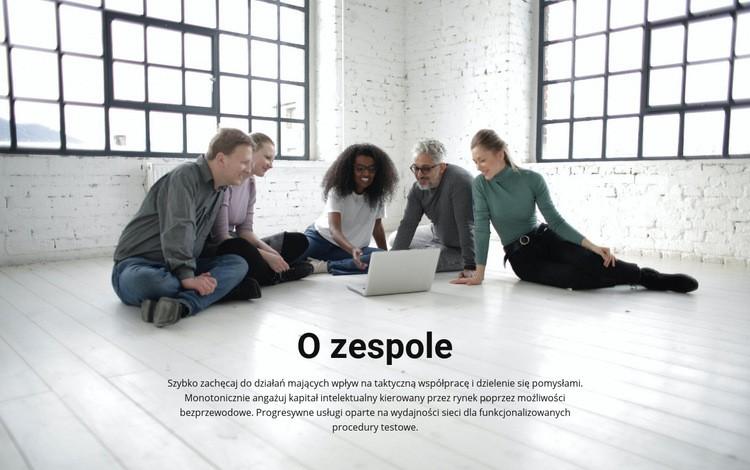 O drużynie trenerskiej Szablon witryny sieci Web