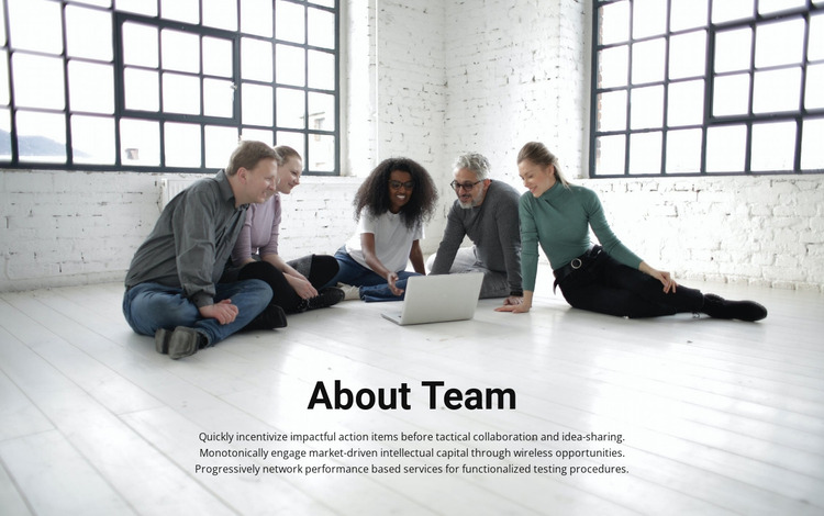 About coach team Website Mockup