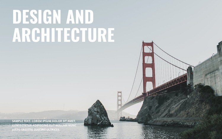 We build bridges CSS Template
