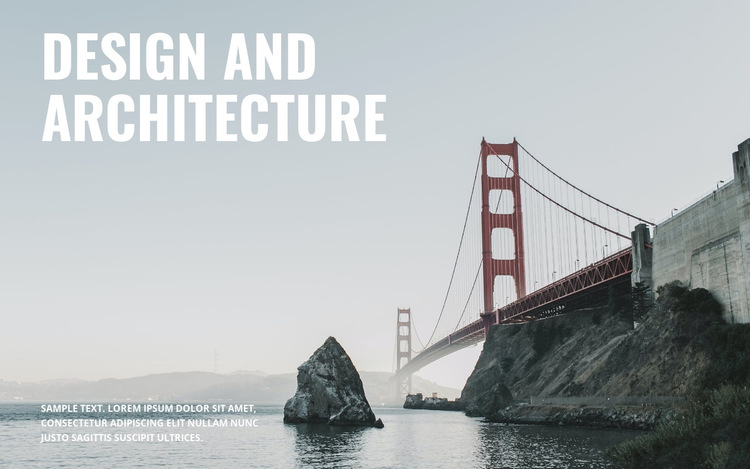 Design and architecture HTML5 Template