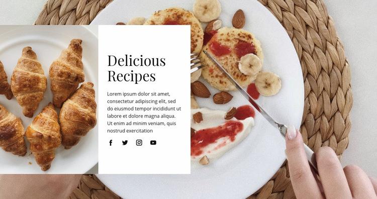 Delicious recipes WordPress Website