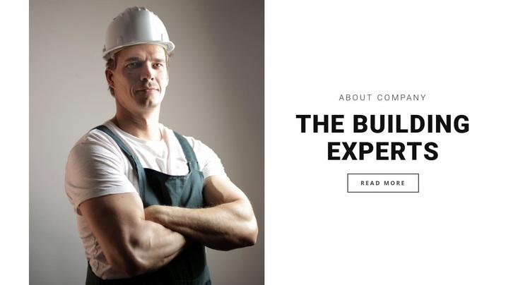 The building experts Website Design