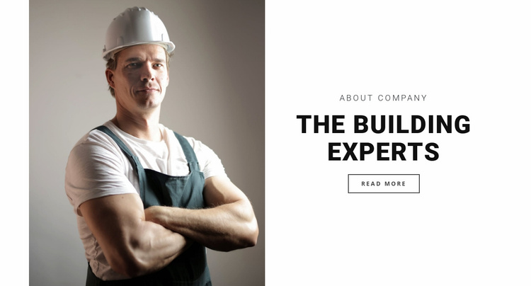 The building experts Website Template