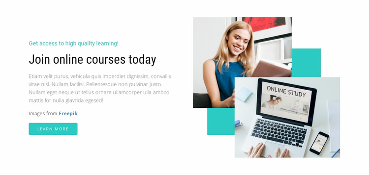 Join Online Courses Today Landing Page