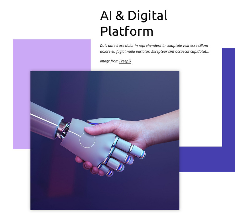 Digital platform HTML Template