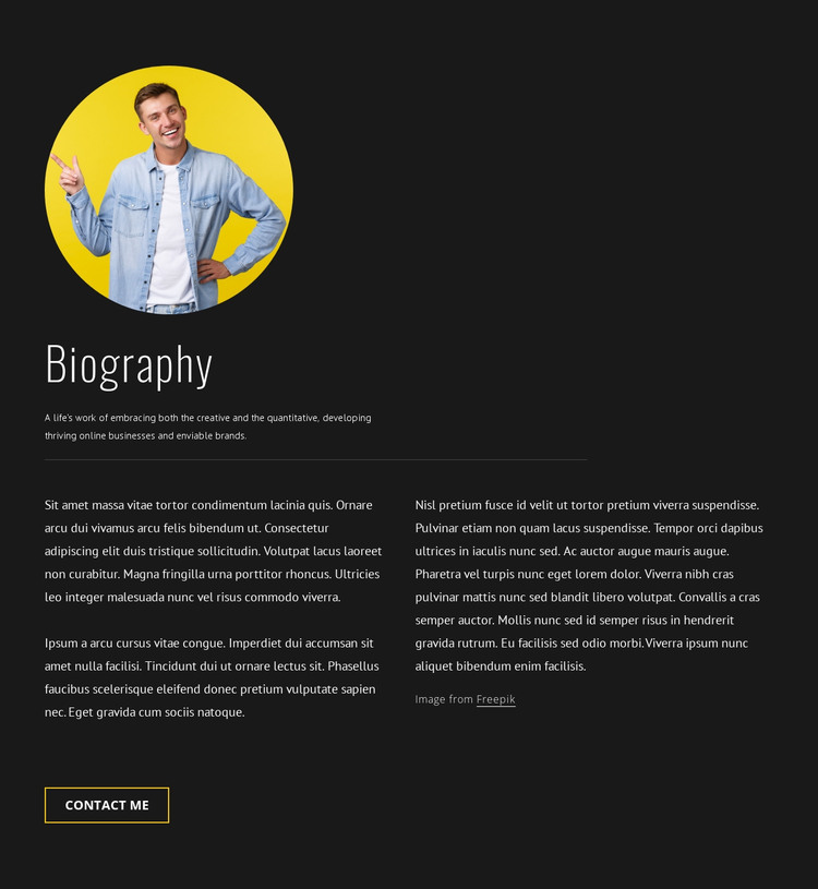 Travel blogger designer biography HTML Template