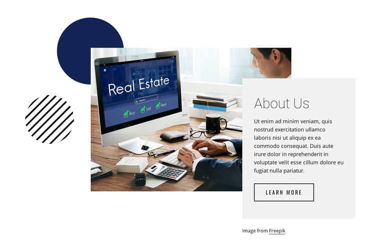 Get real estate tips HTML Template