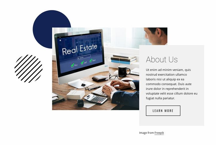 Get real estate tips Website Template
