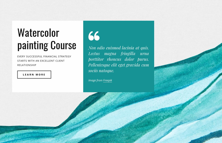 Watercolor painting courses Website Template