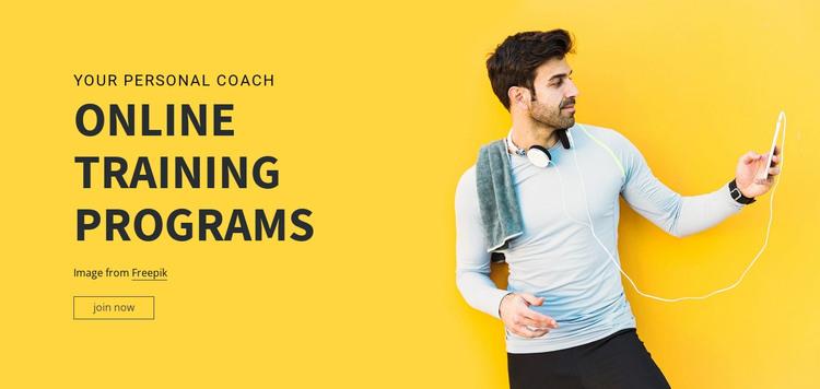 Online Training Programs HTML Template