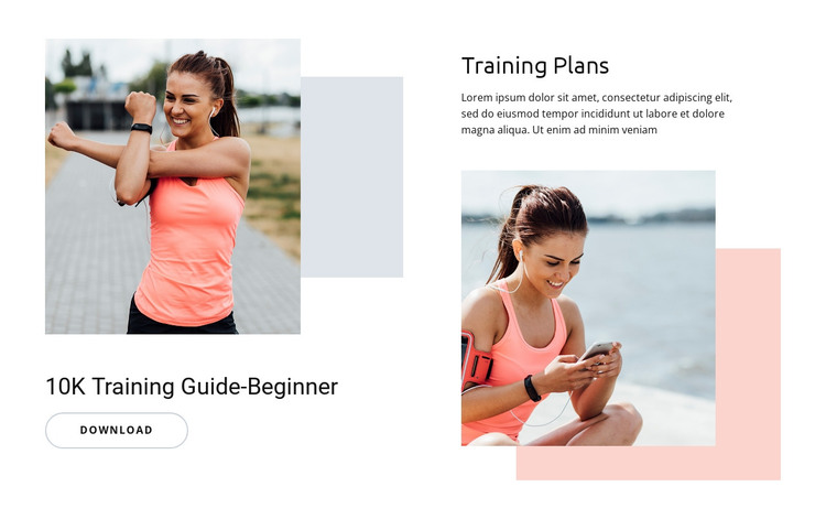 Training Plans HTML Template