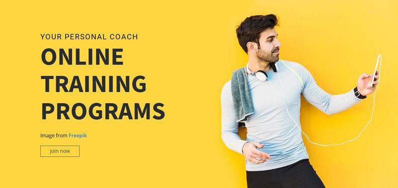 Online Training Programs Web Page Design