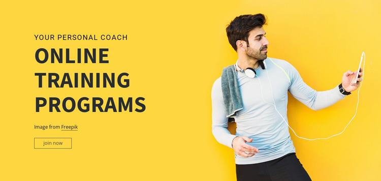 Online Training Programs Website Mockup