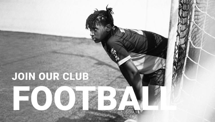 Football club HTML Template