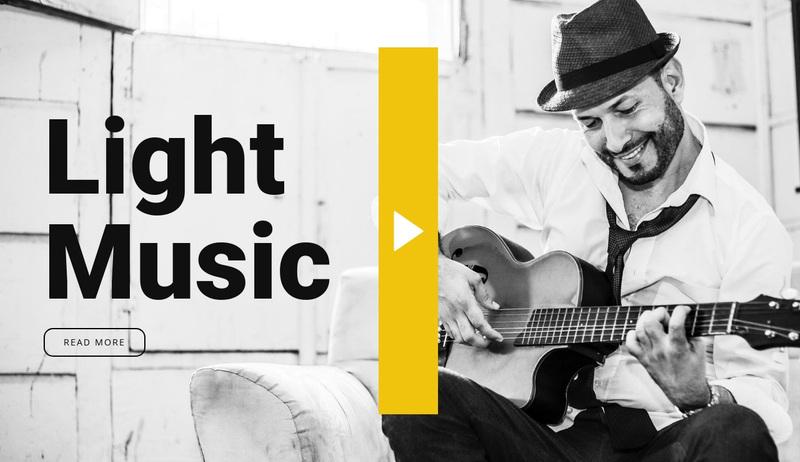 Light music Web Page Design