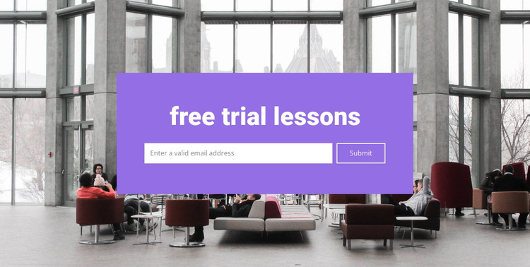 Free trial lessons Joomla Template