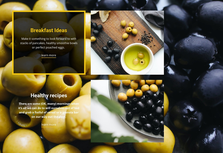 Italian recipes Website Template