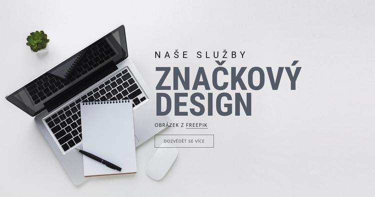 Design značky Šablona webové stránky