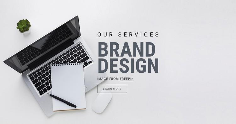 Brand Design CSS Template