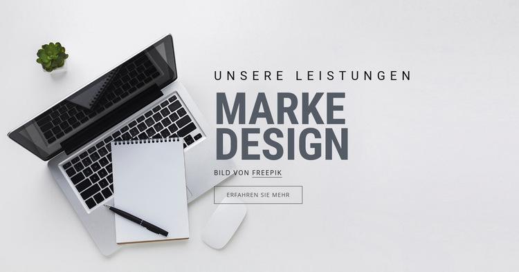 Markendesign Website-Vorlage