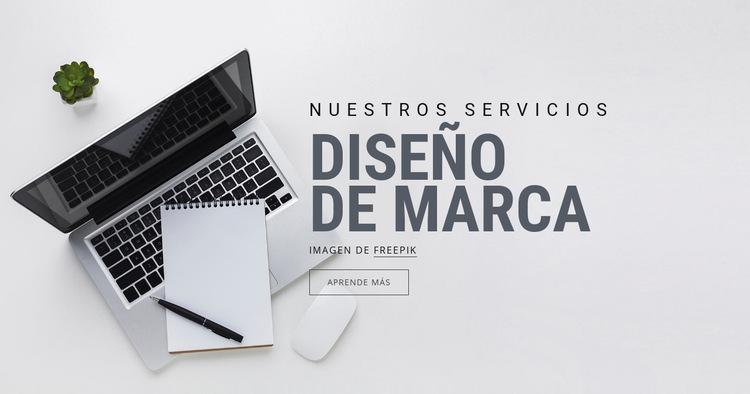 Diseño de la marca Plantilla de sitio web