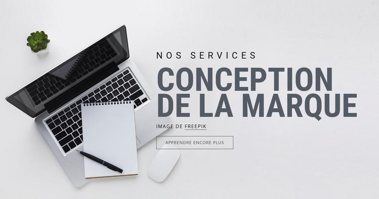 Design de marque Modèle de site Web