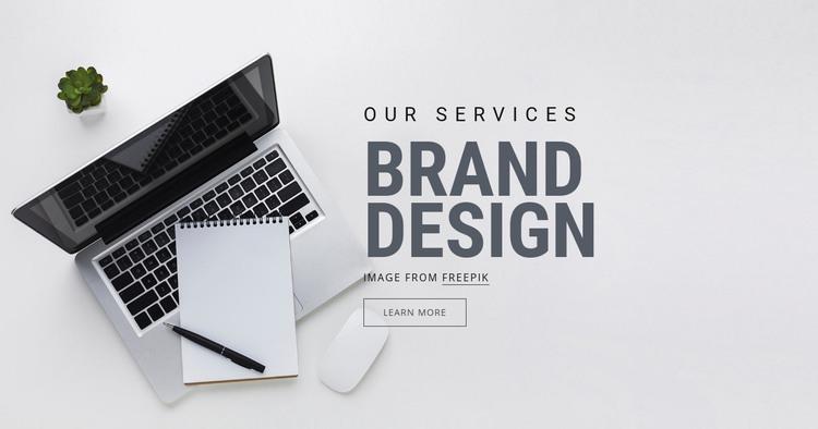 Brand Design Homepage Design