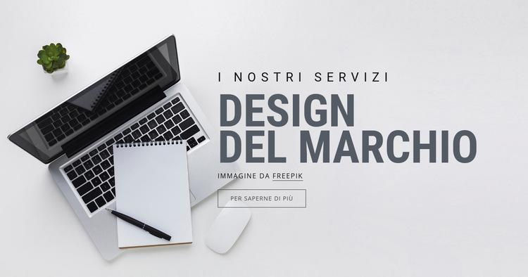 Design del marchio Modello di sito Web