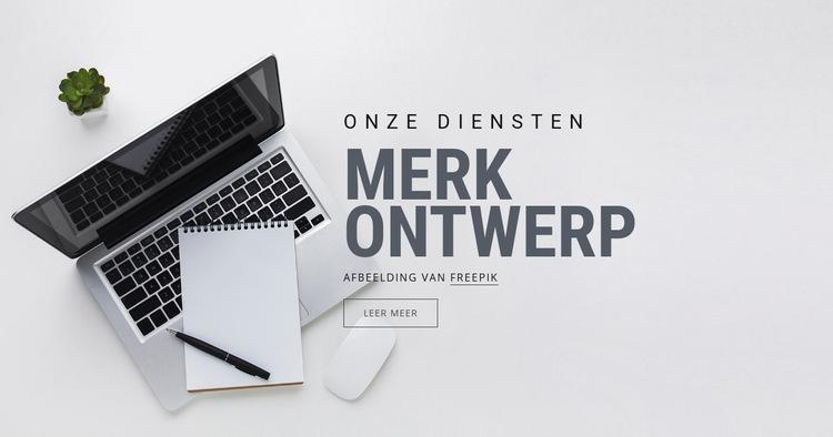 Merkontwerp Website sjabloon