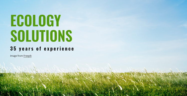 Ecology Solutions One Page Template