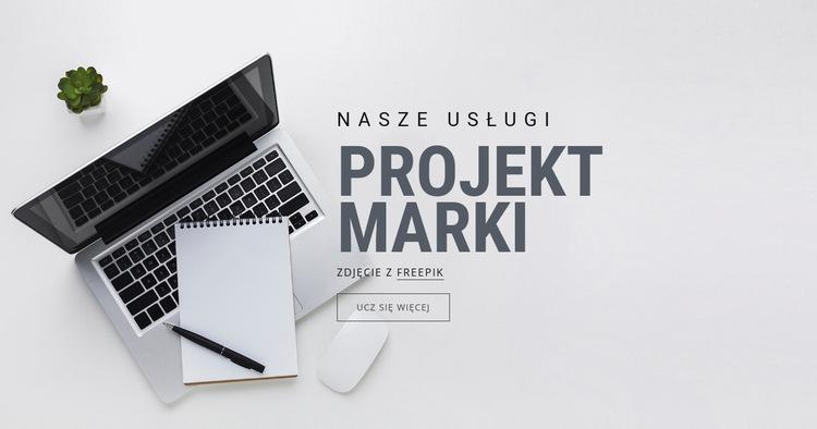 Projekt marki Szablon witryny sieci Web
