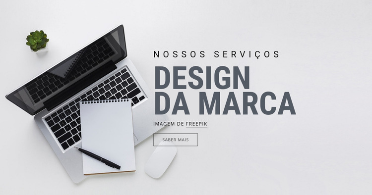 Design de marca Modelo de site