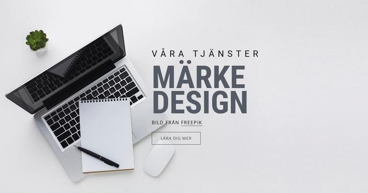Varumärkesdesign Webbplats mall